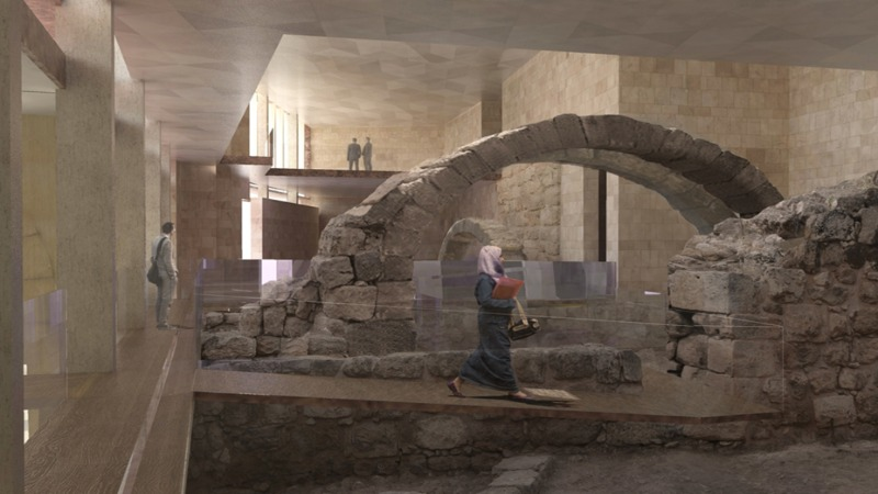 Artistic rendering of museum's ground floor (Valeria Gaspari for the Studio Strati).